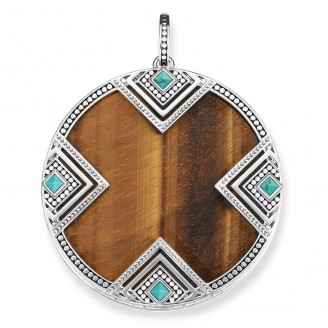 THOMAS SABO TRIANGLE AFRICA PENDANT WITH TURQUOISE