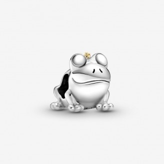 Sterling silver charm Frog Prince