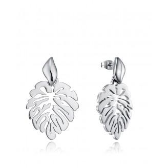 Viceroy Chic earrings in steel in the shape of an openwork leaf