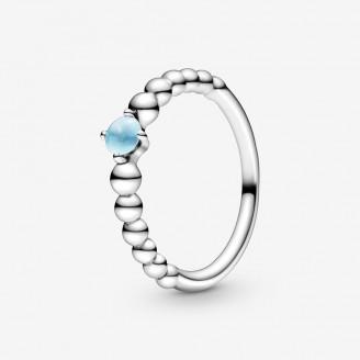December Birthstone Beaded Ring
