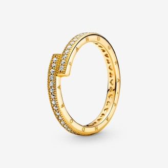 Sparkling Overlapping Ring