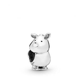 Rhino the Rhinoceros silver charm